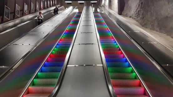 Every escalator should be a disco escalator