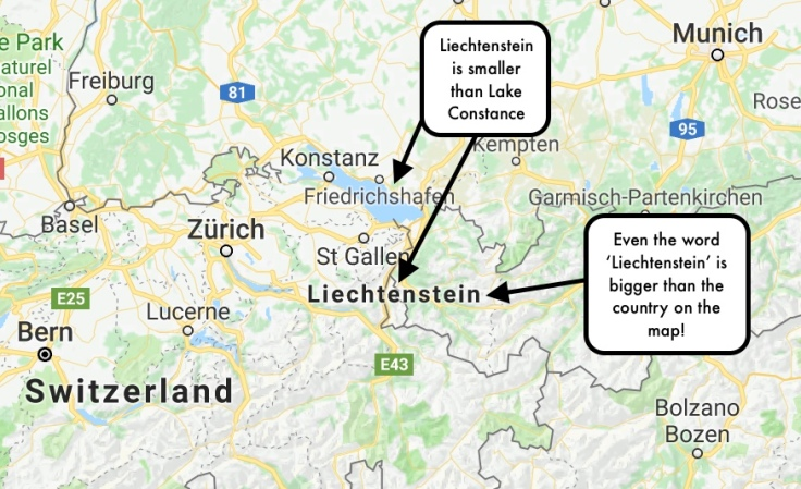 Unusual destinations. Lichtenstein is a good place to visit for first time solo female travellers