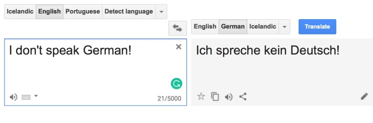 I don't speak German in Liechtenstein. But you can speak English.
