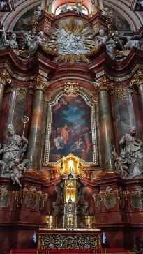Inside the Parish church of the city of Poznan